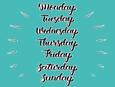 Por Qué Los Días De La Semana Se Llaman Así En Inglés E Lingua